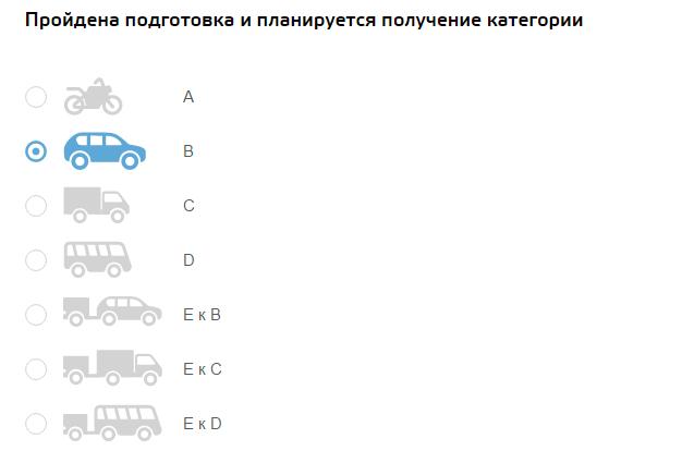 Категория транспортного средства