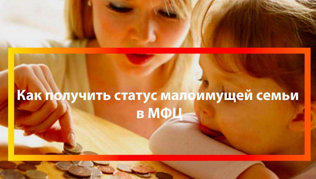 МФЦ статус малоимущей семьи
