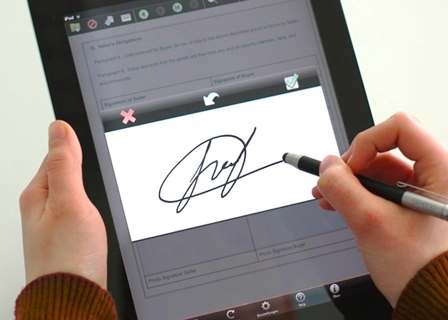 Пример электронной подписи